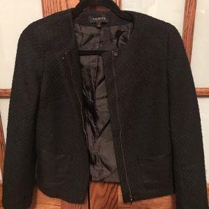Black jacket with leather pocket detail!